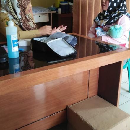 penyuluhan dan konsultasi ibu bayi, balita di poskesdes desa sekarwangi